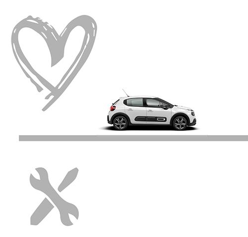 Icons Herz - Auto - Tools